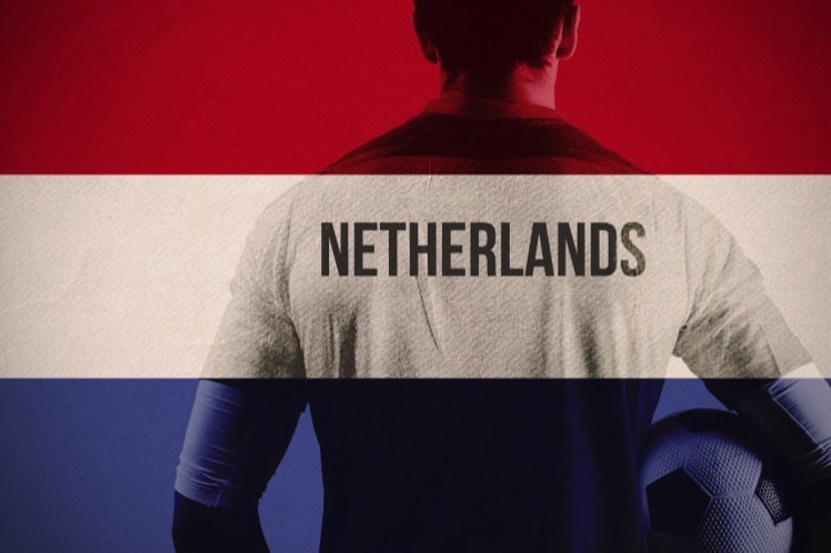 Dutch flag and player