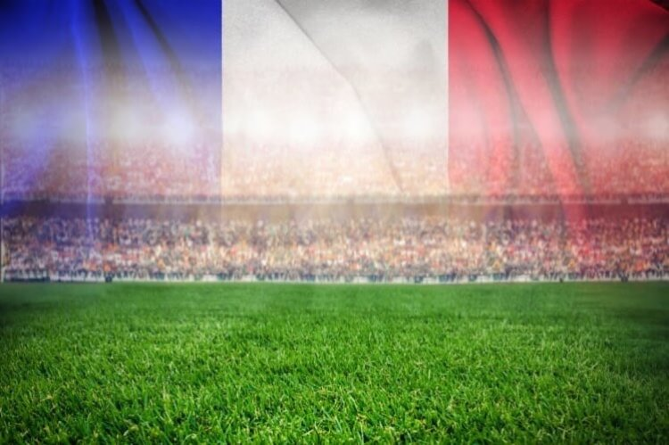 French flag in stadium