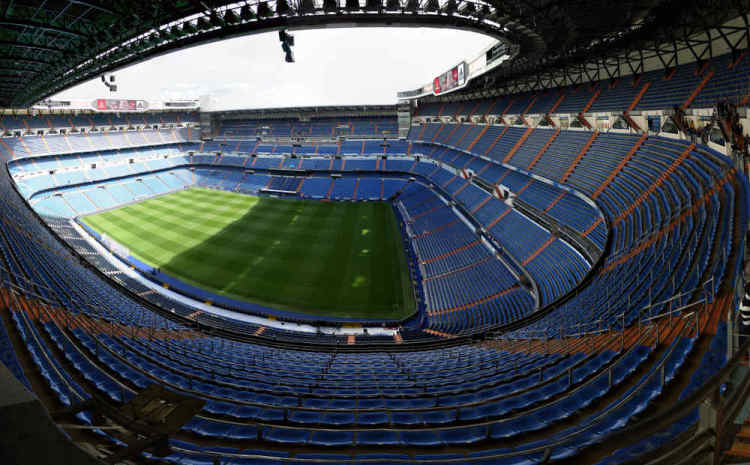 Santiago Bernabeu, home stadium of Real Madrid