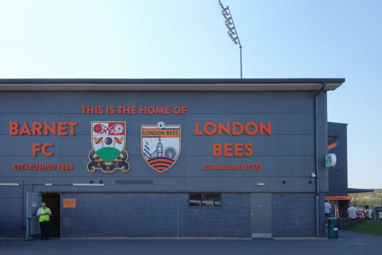 The Hive Stadium - home of Barnet FC