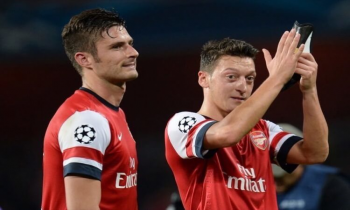 Giroud and Ozil for Arsenal