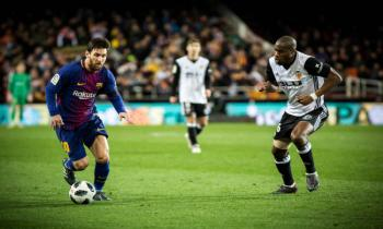 Lionel Messi in Barcelona v Valencia