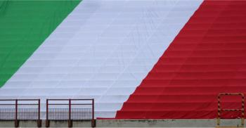 Italian Flag in empty stadium due to Coronavirus