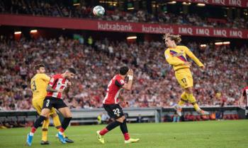 Antoine Griezmann for FC Barcelona against Athletic Bilbao