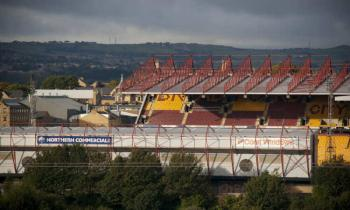 Valley Parade Football Ground, home of Bradford City
