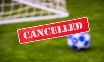 Football match canceled image